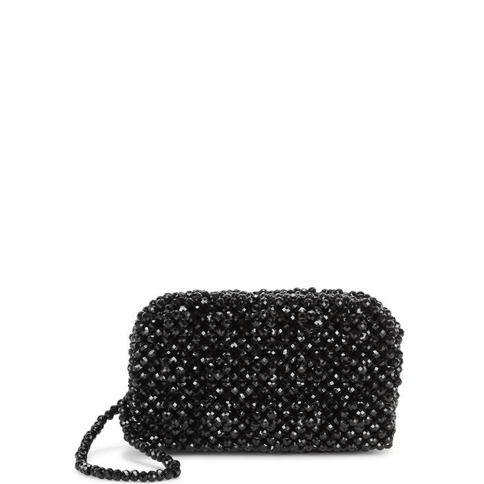 4f60d5612a Shrimps Molly Black Beaded Clutch Bag