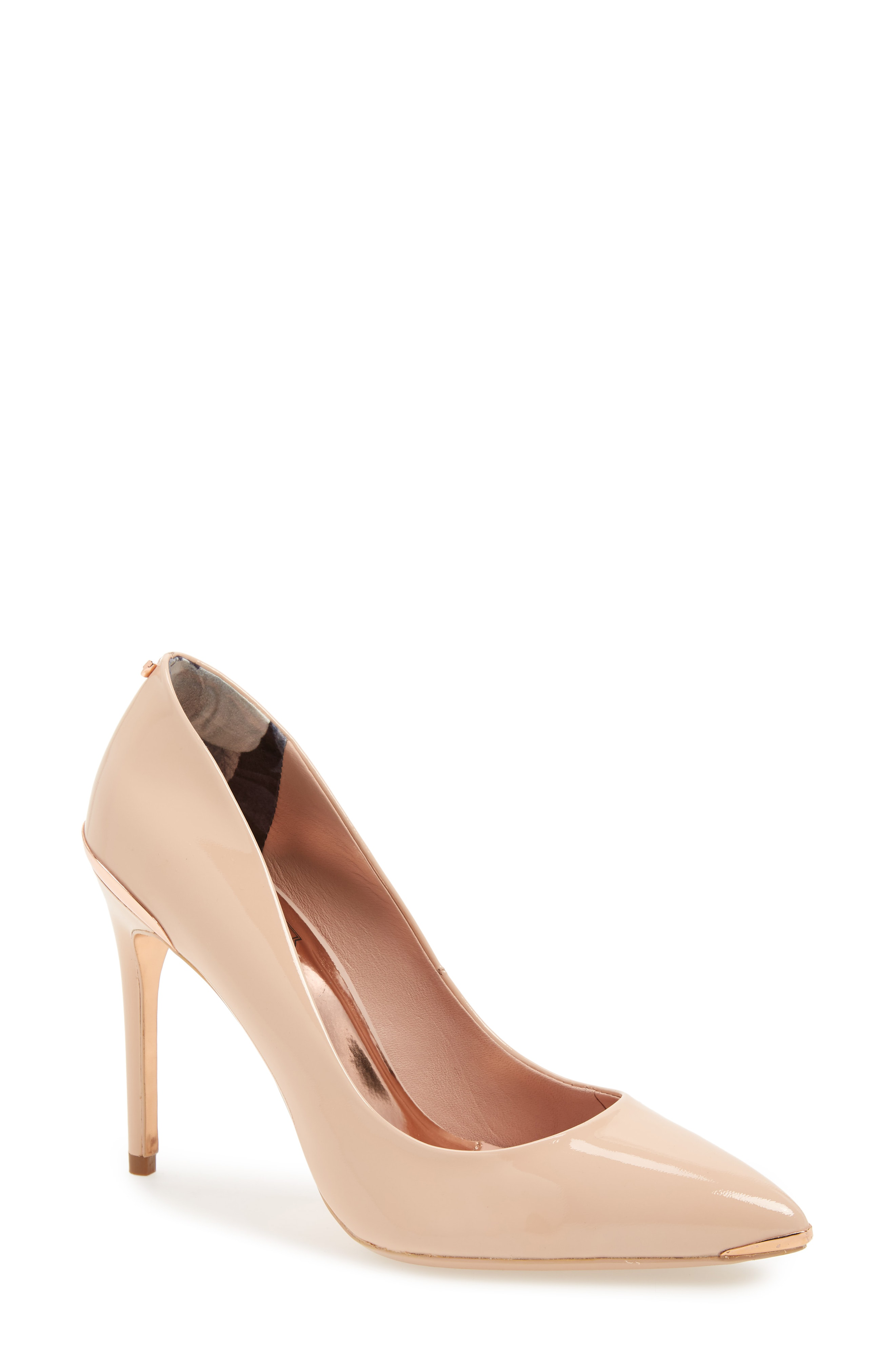 33bf01917680d Ted Baker Women s Izibela Pointed-Toe Pumps In Nude Patent Leather ...
