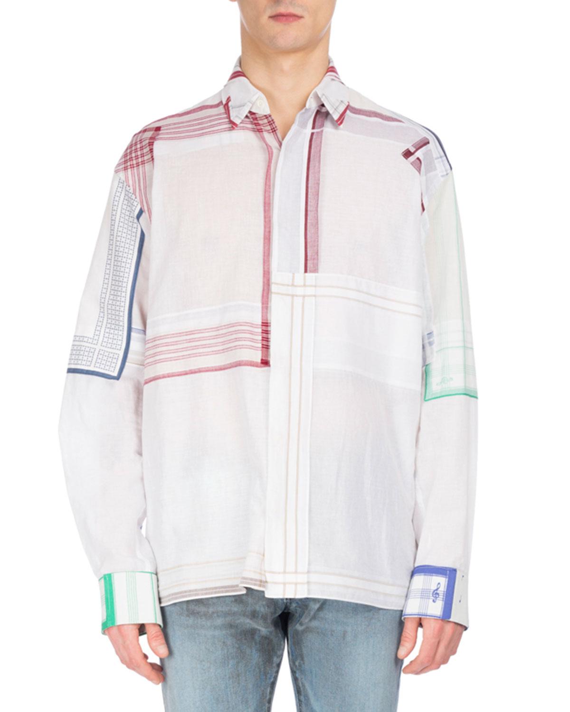 51ab34e2a2a Maison Margiela Patchwork Handkerchief Shirt