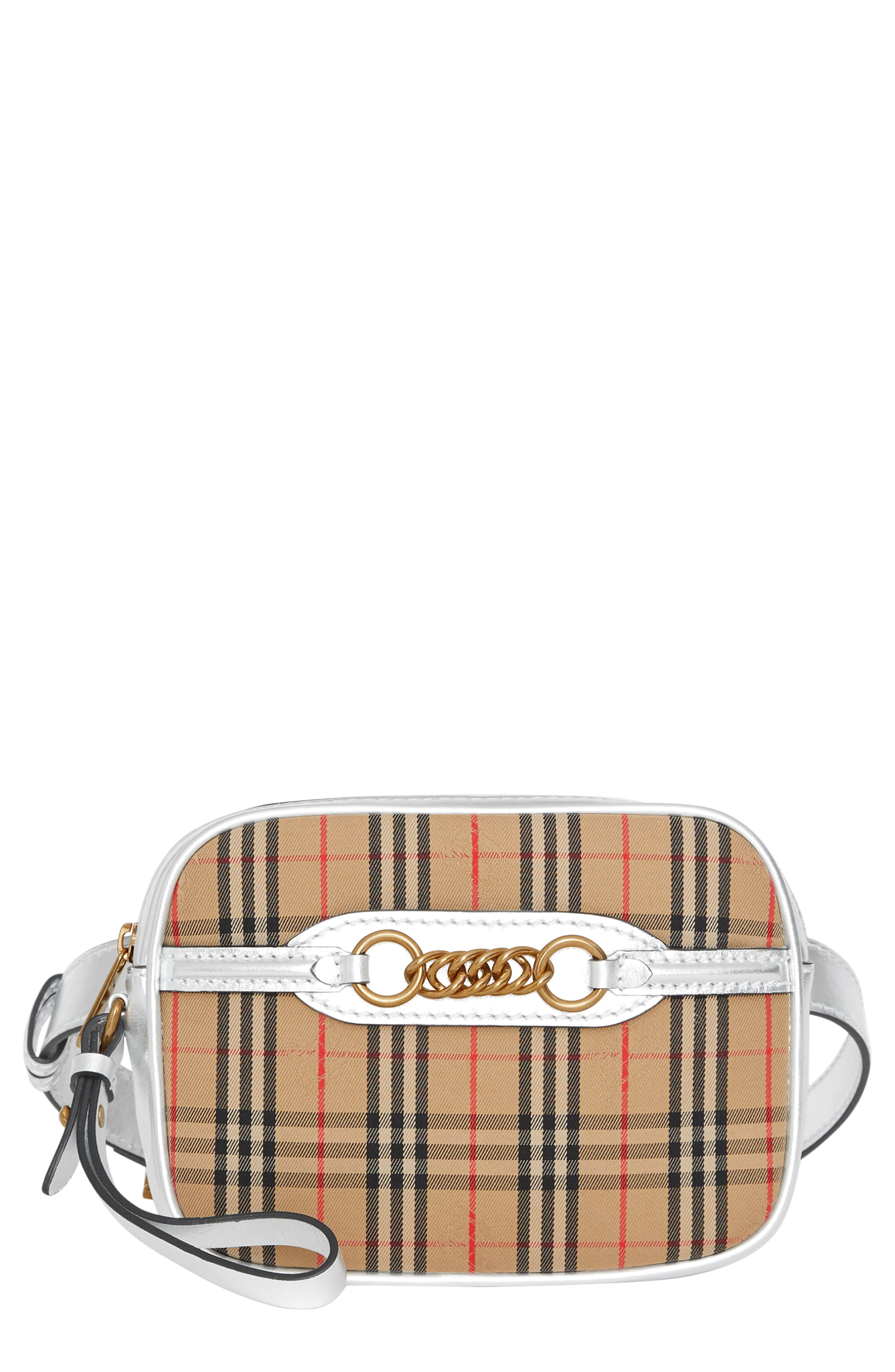 fb67528d8a Burberry The 1983 Check Link Bum Bag With Leather Trim In Neutrals ...