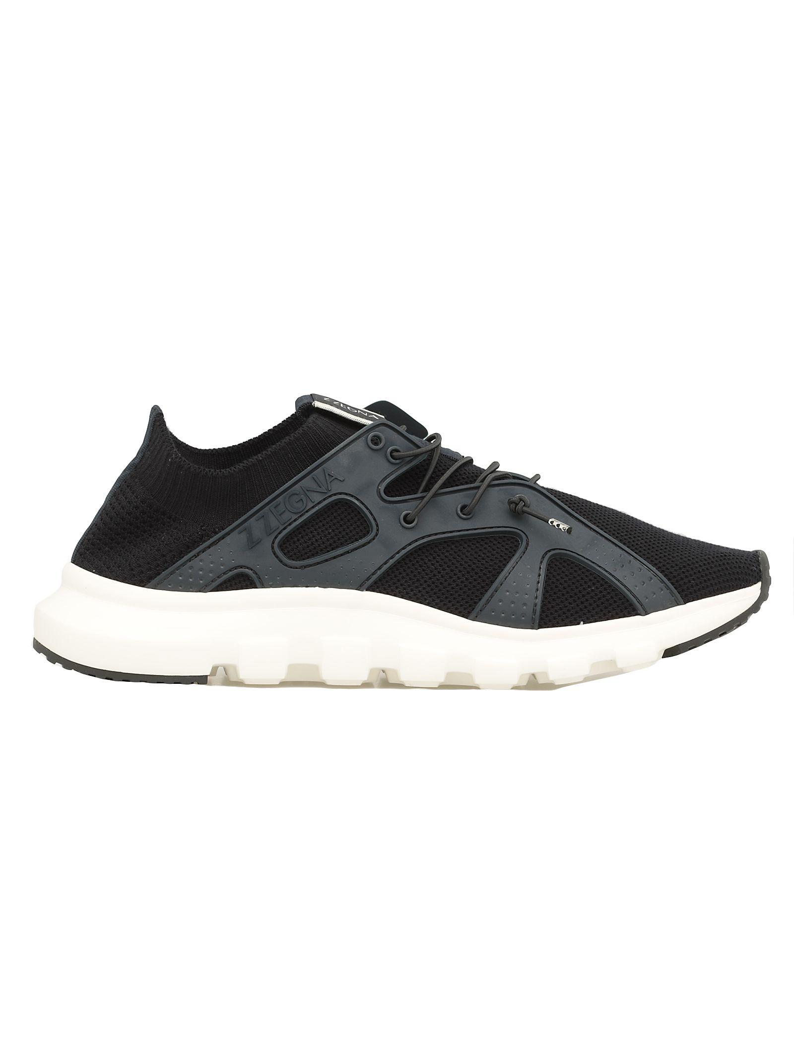cd0a4c552f Ermenegildo Zegna Techmerino Sock Sneaker In Blue Navy   ModeSens
