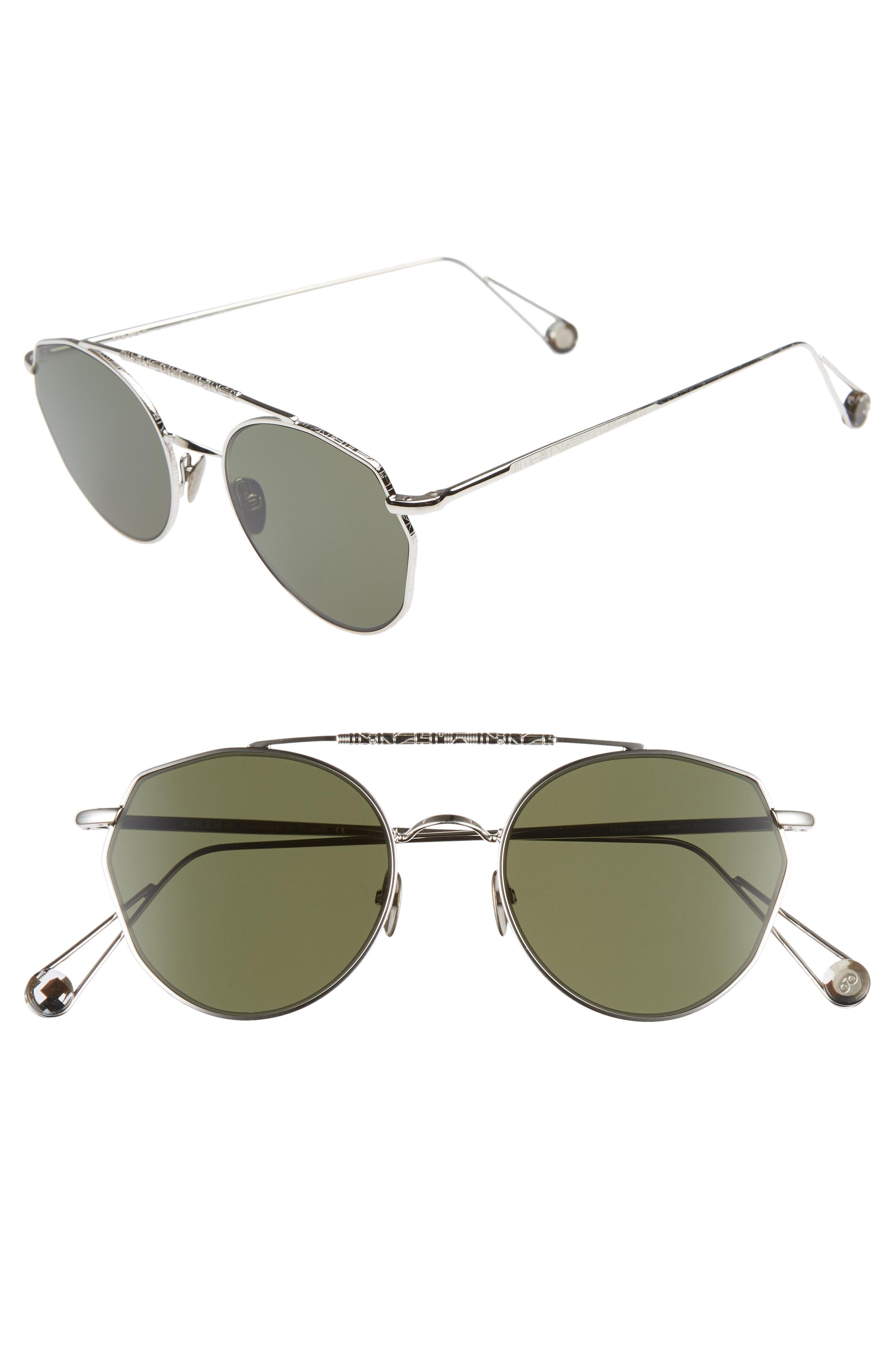 Gold Sunglasses White 51mm Aviator Carre mNv08wn