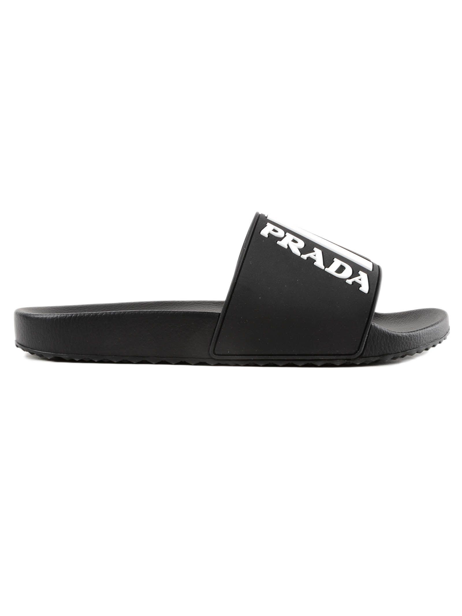 d7713412c46d Prada Men s Logo Rubber Slide Sandal