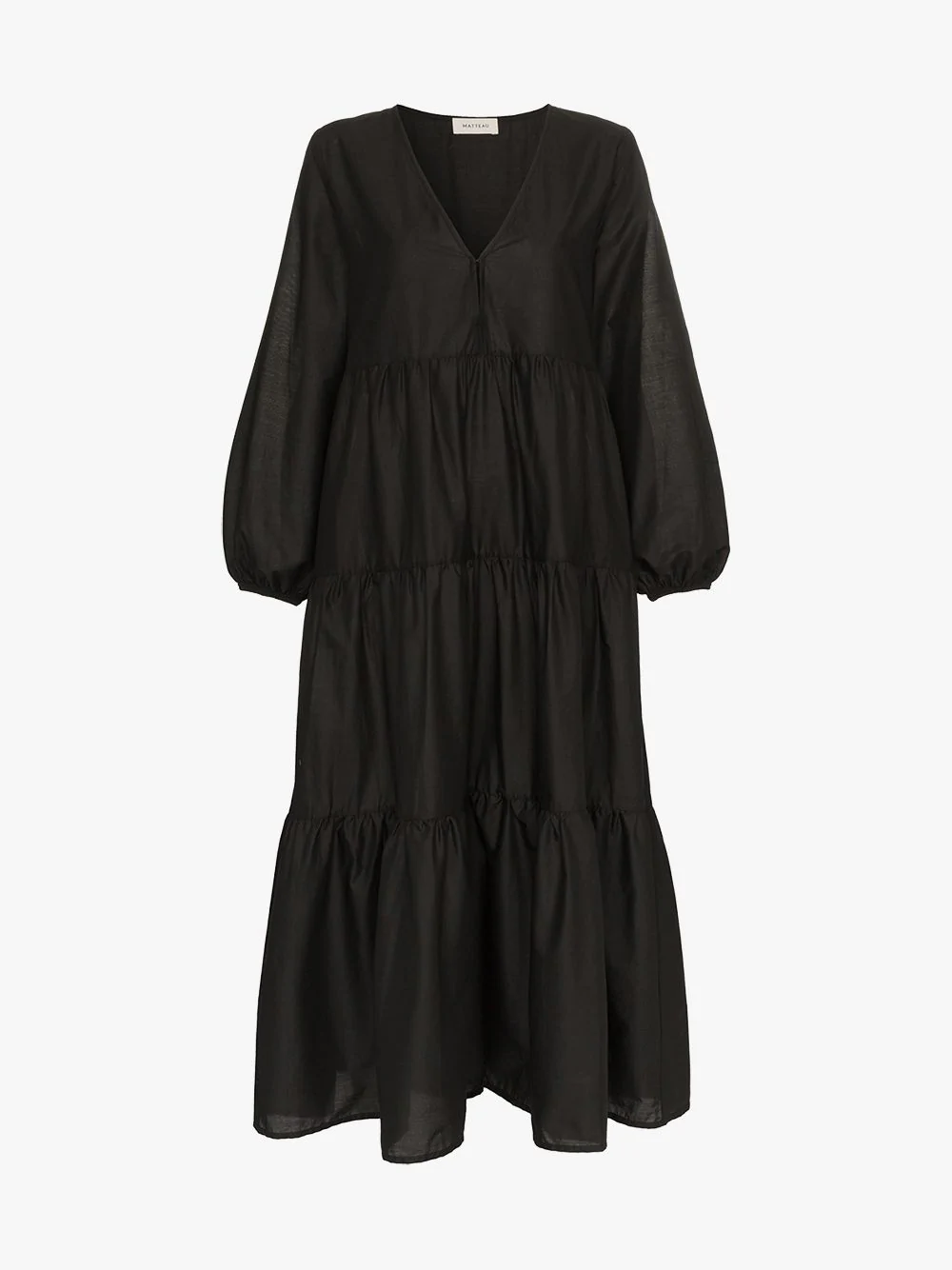 011147d2c37 Matteau Tiered Cotton Poplin Maxi Dress - Black