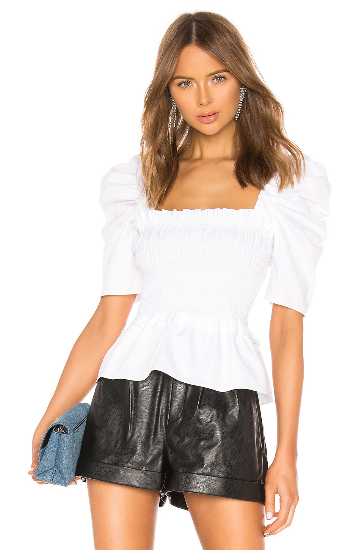 Amanda Uprichard Marisol Ruffled Smocked Top - 100% Exclusive In White