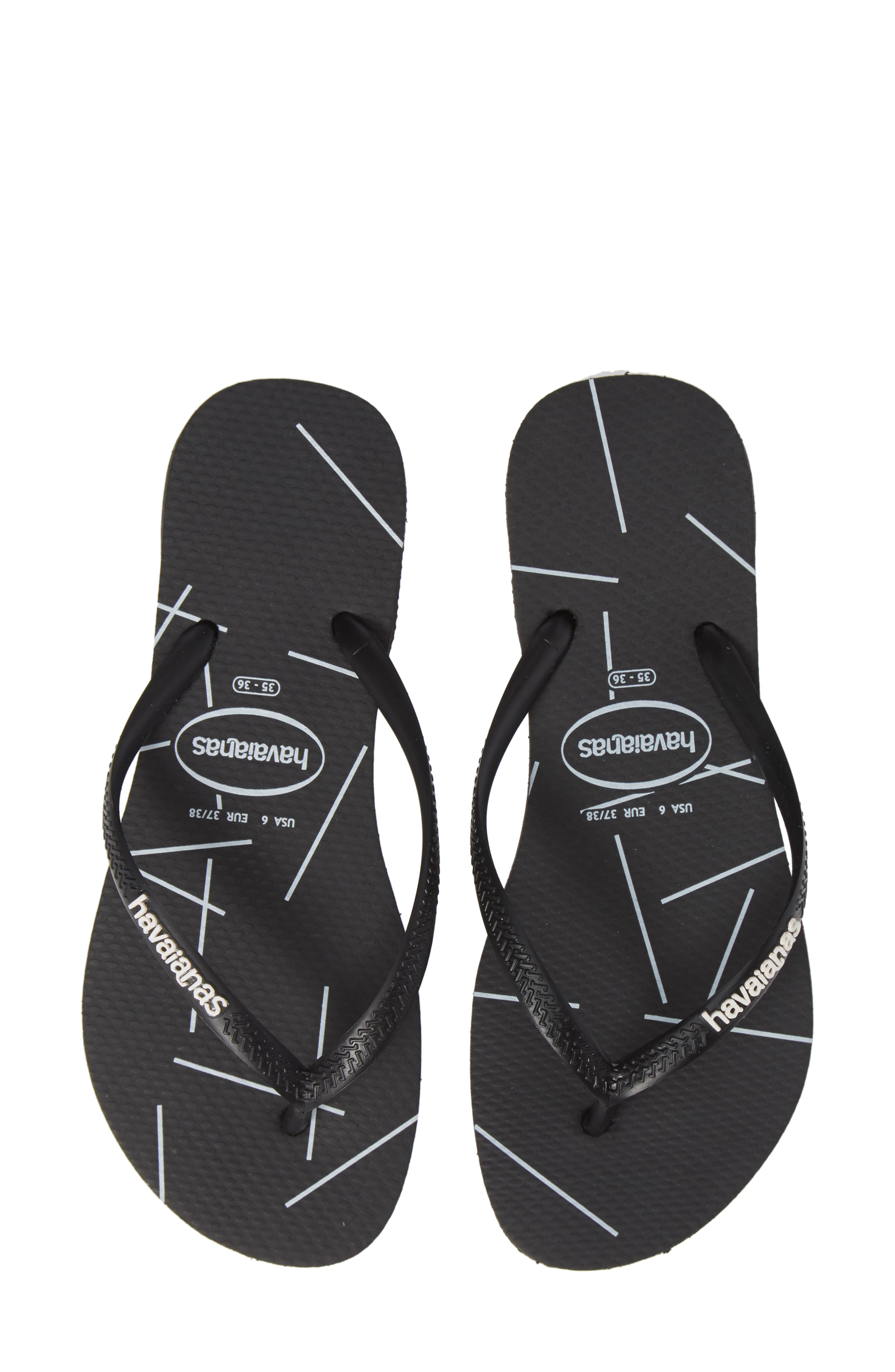 01a4edb5d555 Havaianas Slimstripes Flip Flop In Color Block White