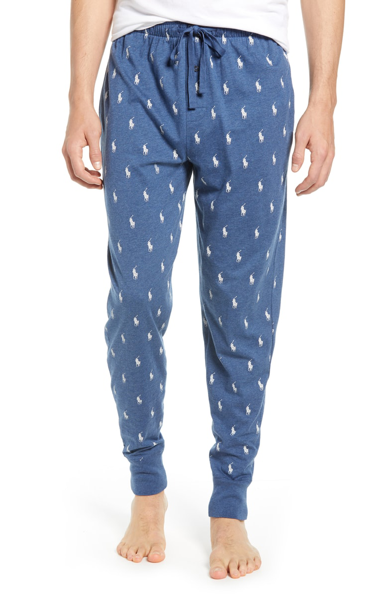 Polo Ralph Lauren Men S Lightweight Cotton Logo Pajama Pants In