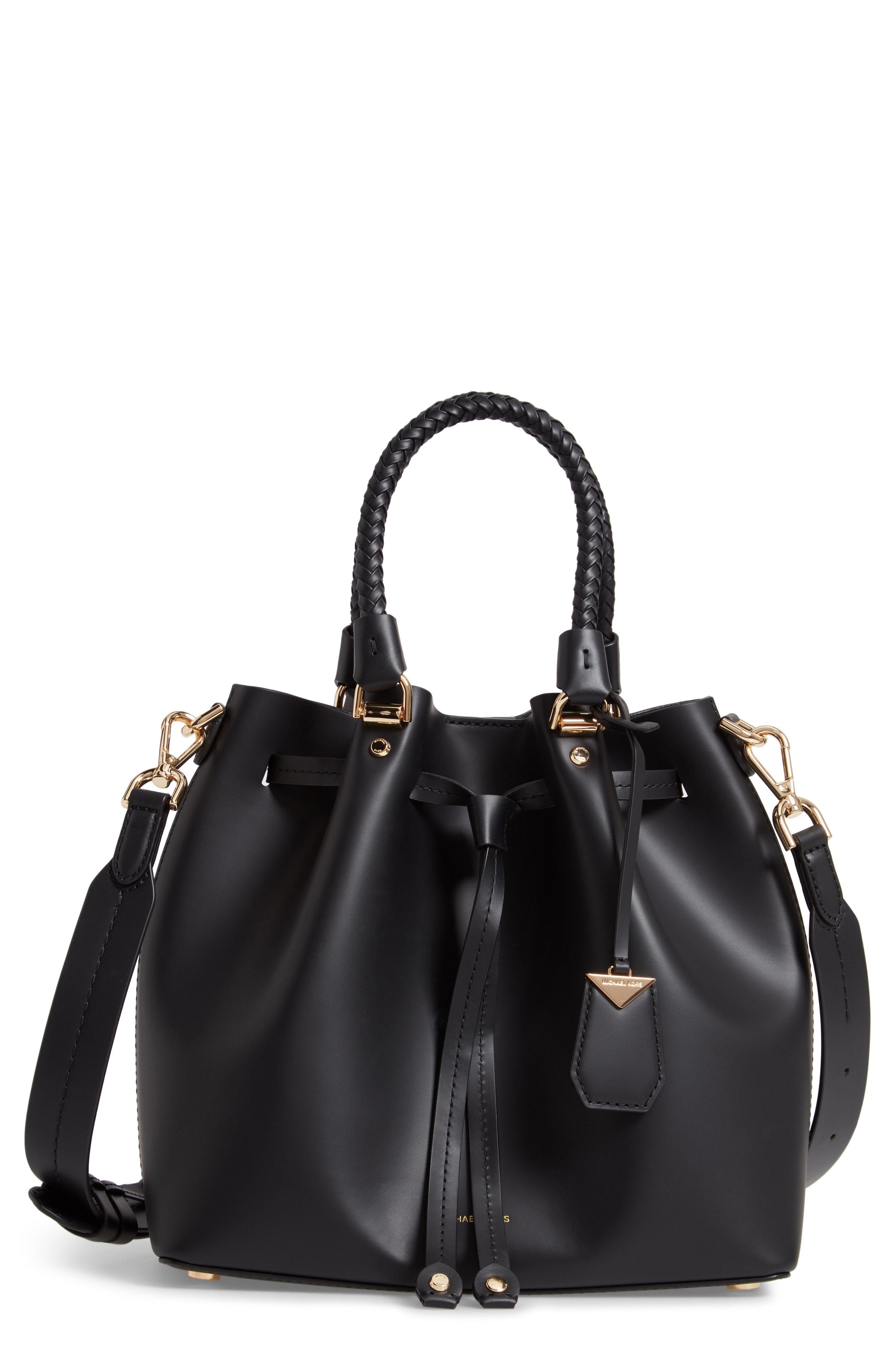 d3904c705 Michael Michael Kors Michael Kors Ladies Black Blakely Leather Bucket Bag