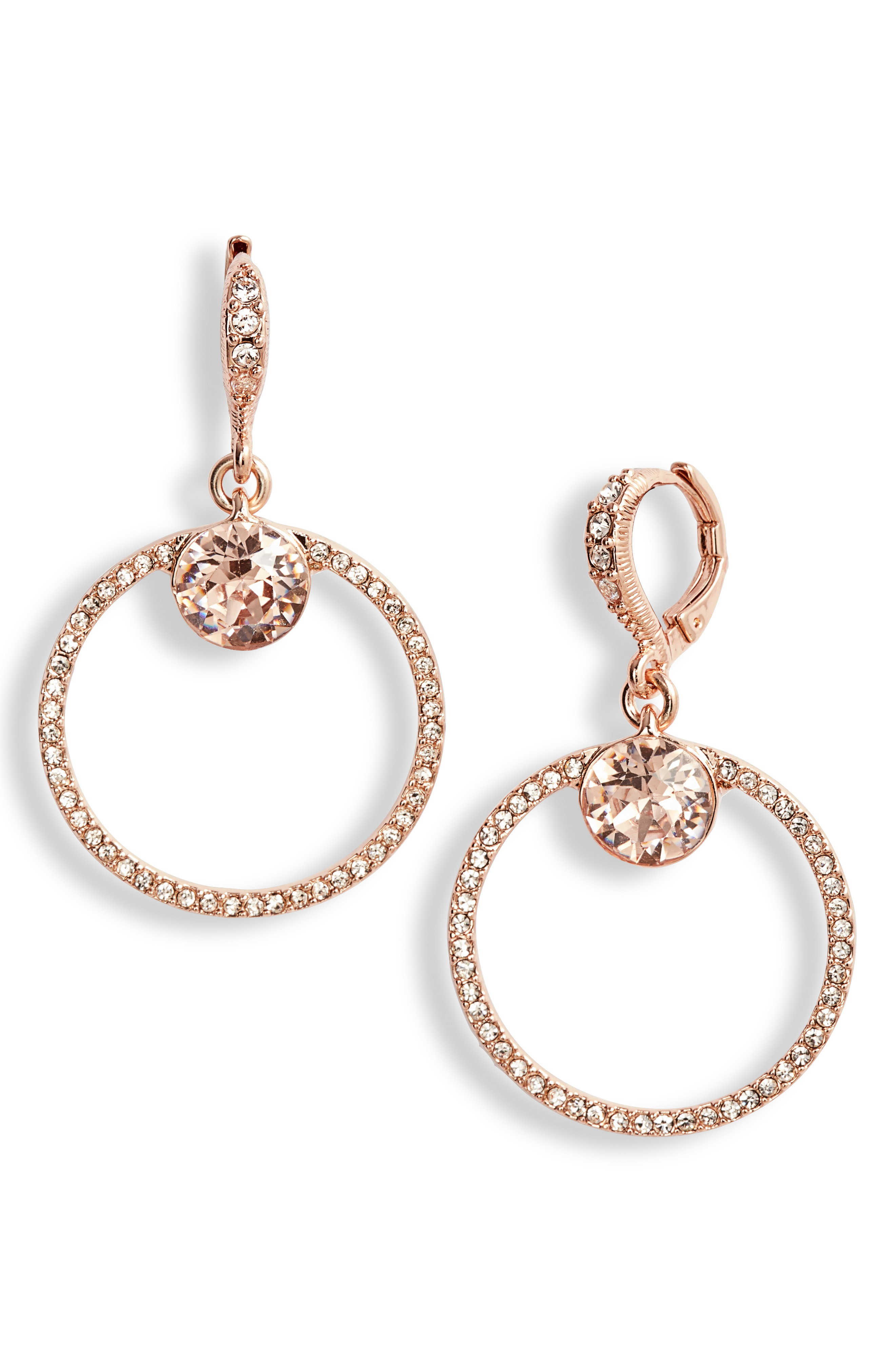 31a3c5645 Givenchy Rose Gold-Tone Crystal Drop Large 1-2/3