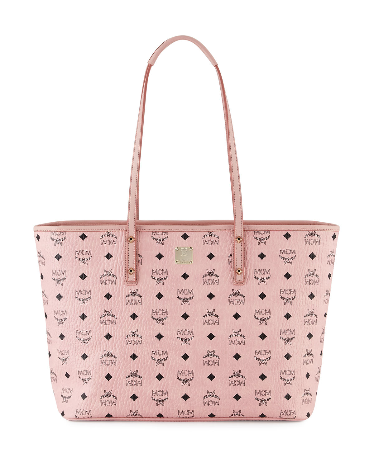 28d66a261 Mcm Anya Soft Pink Top Zip Medium Shopping Bag | ModeSens