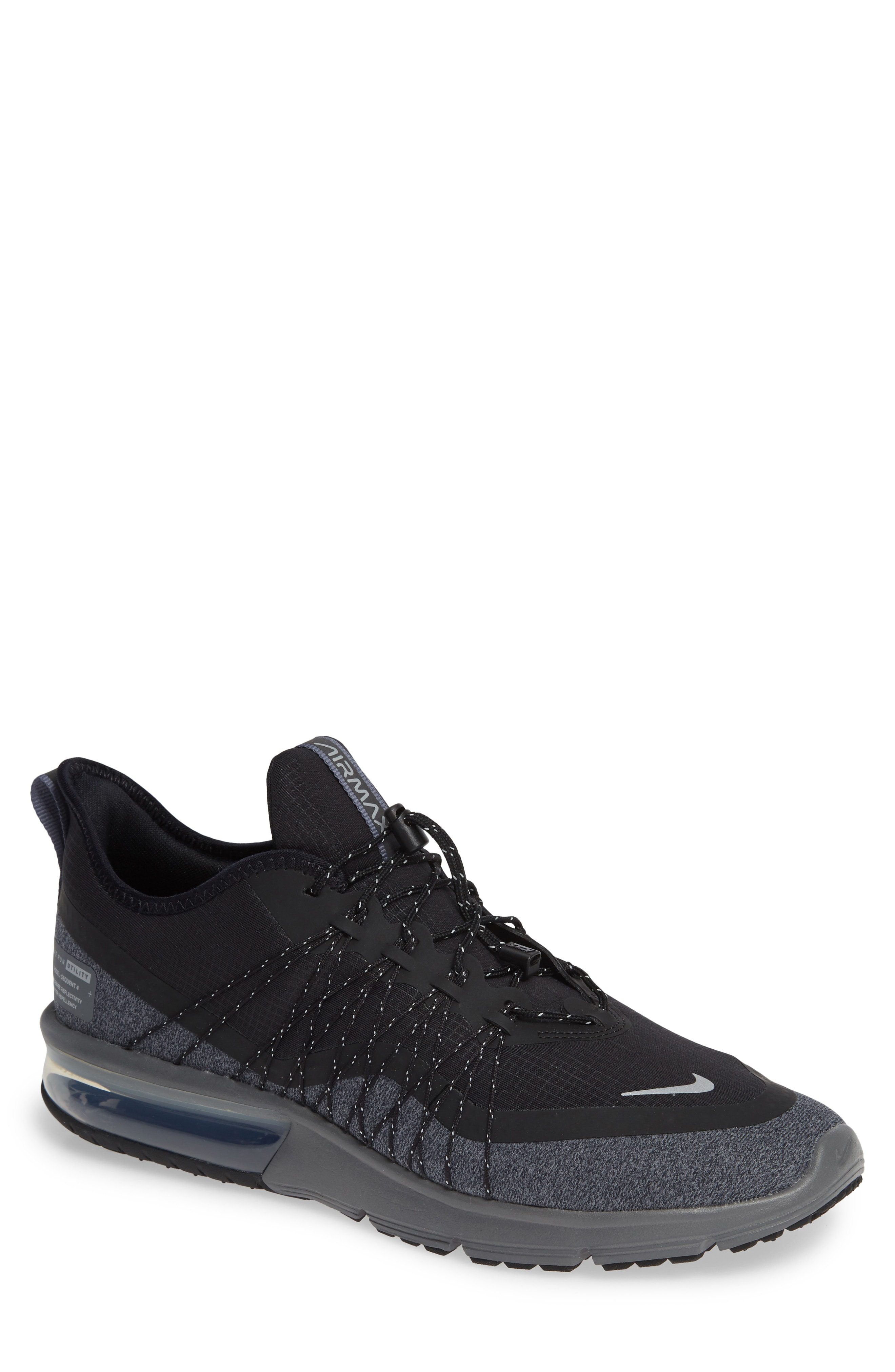 2de90c6493 Nike Men's Air Max Sequent 4 Shield Running Sneakers From Finish Line In  Black/Metallic