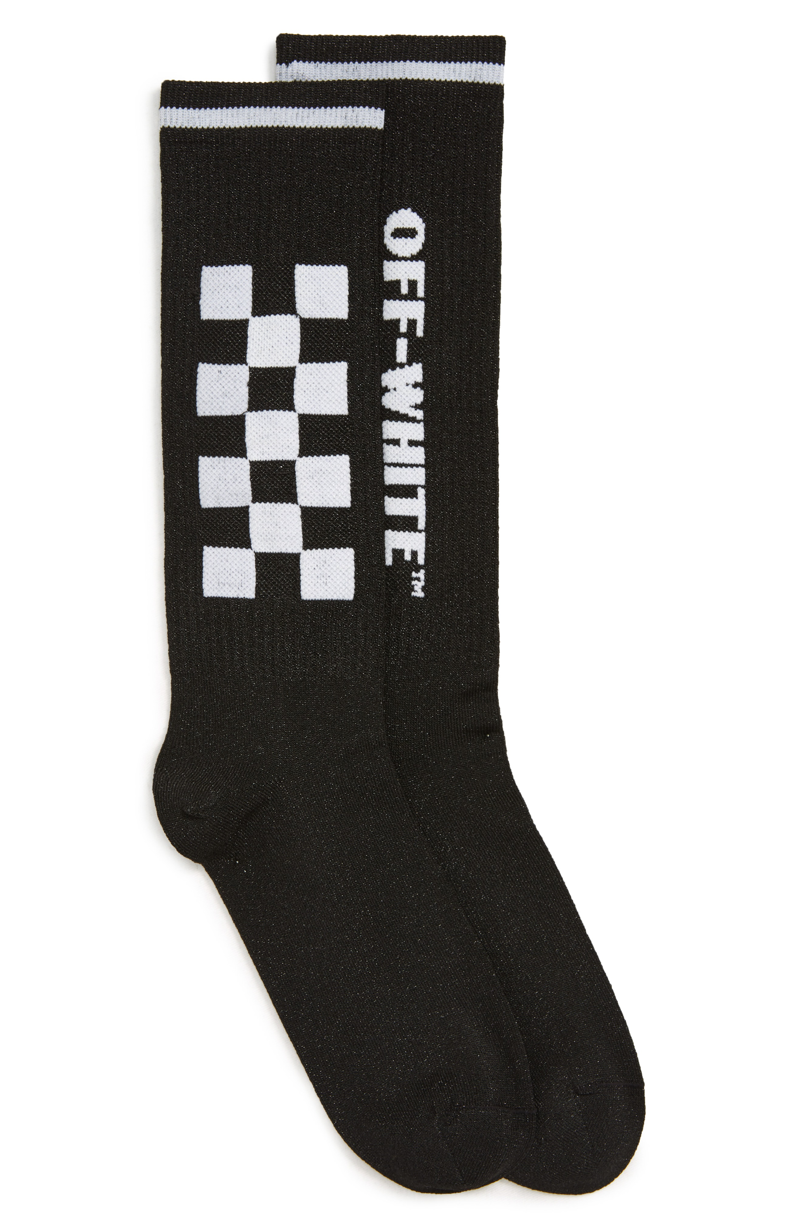 bd0294a121c Off-White Taxi Long Socks In Black White