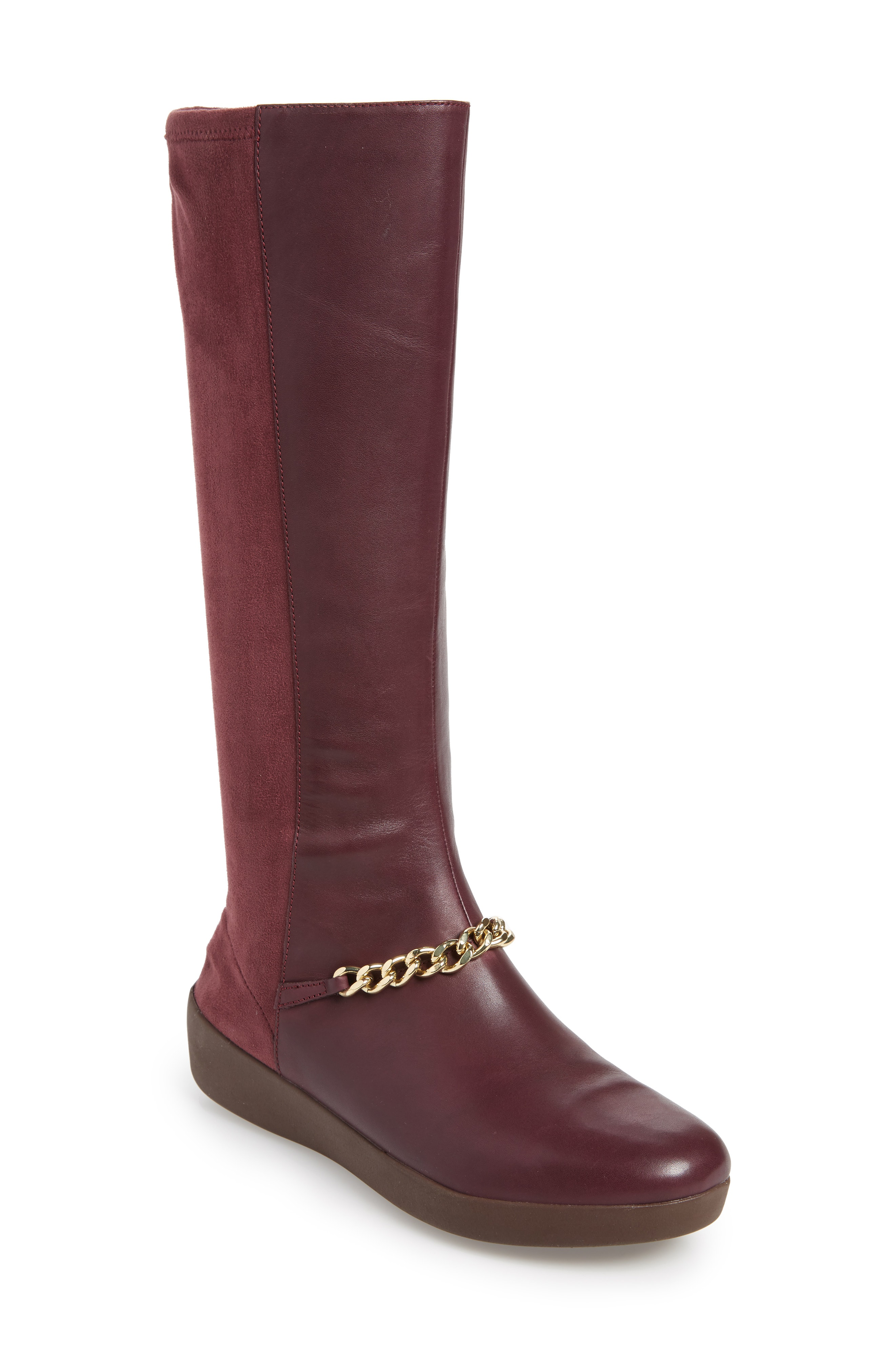 3cc435330e Fitflop Fifi Knee High Boot In Deep Plum Leather