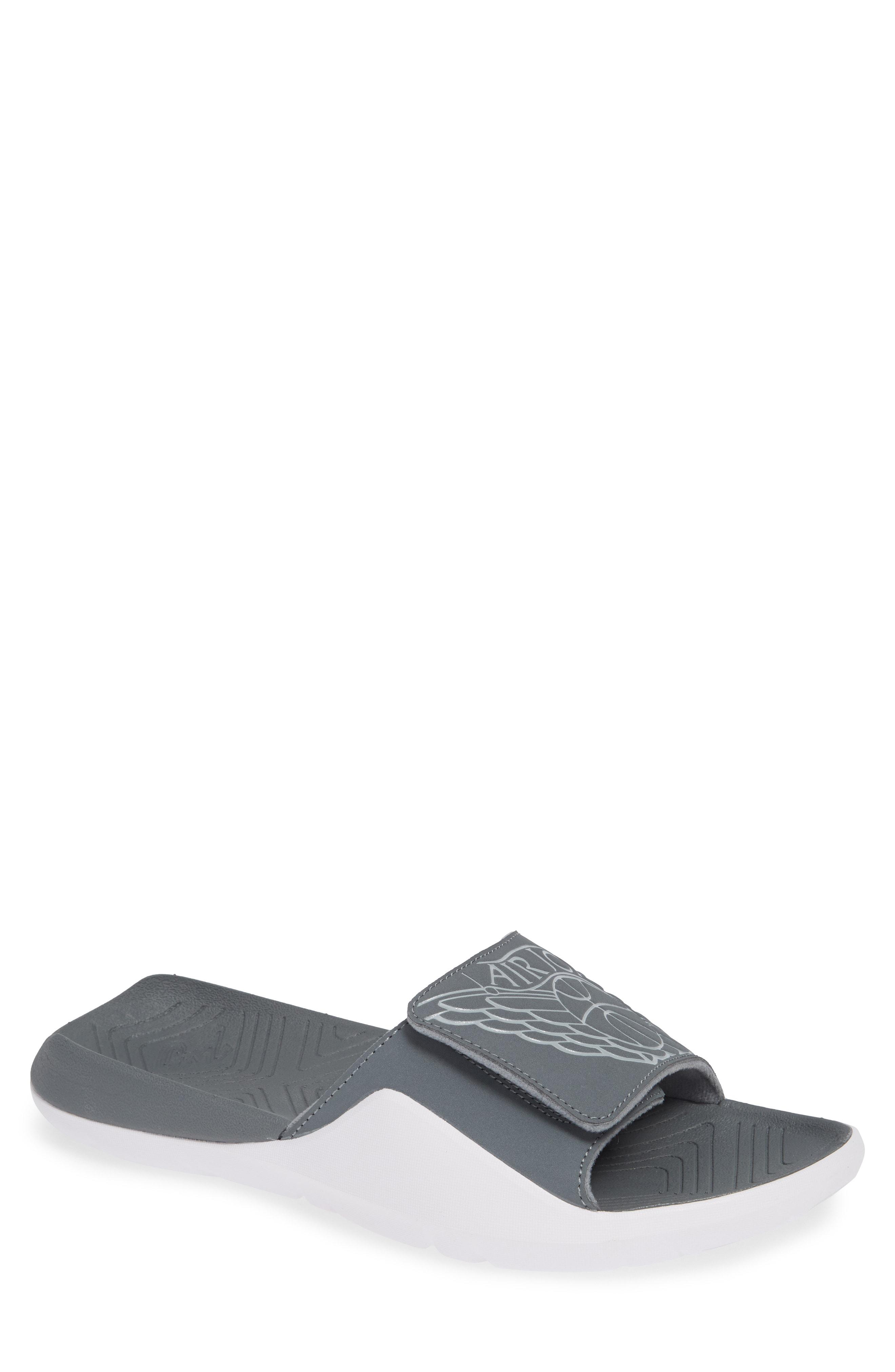 566de2dfb40e9c Nike Jordan Hydro Sport Slide Sandal In Smoke Grey  White