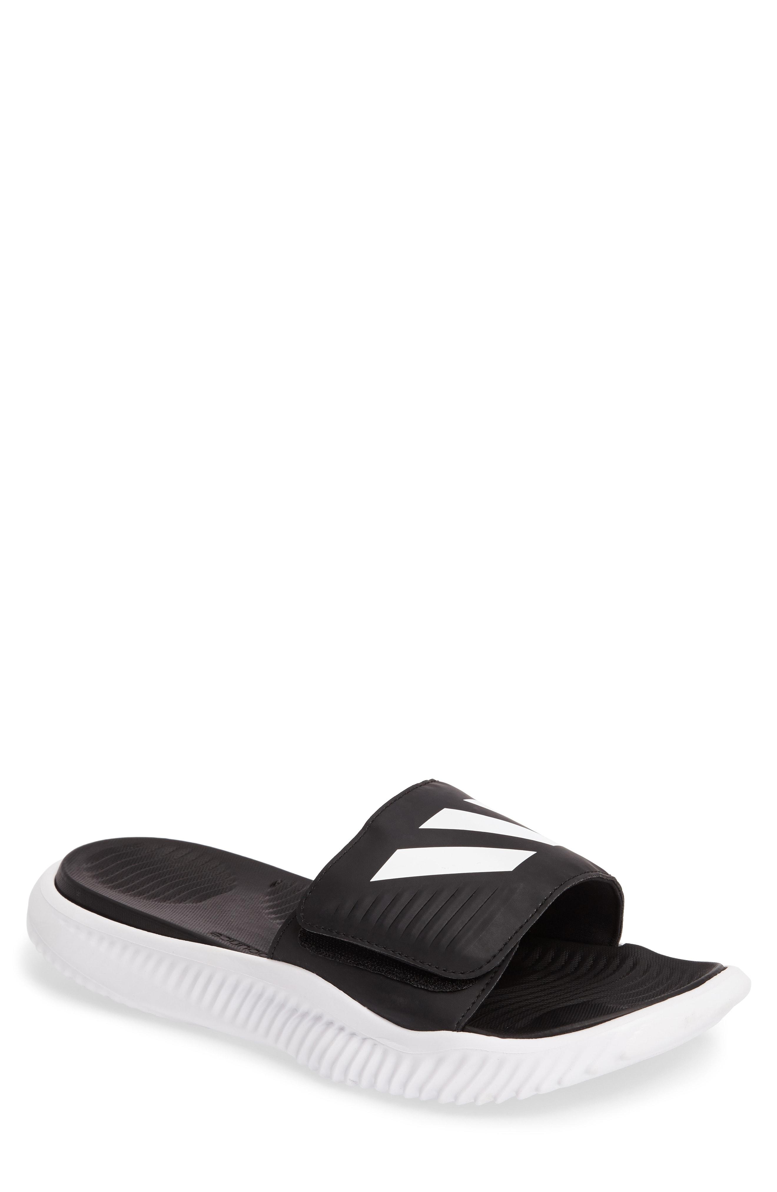 74aaec181cad Adidas Originals Alphabounce Slide Sandal In White Core Black White ...