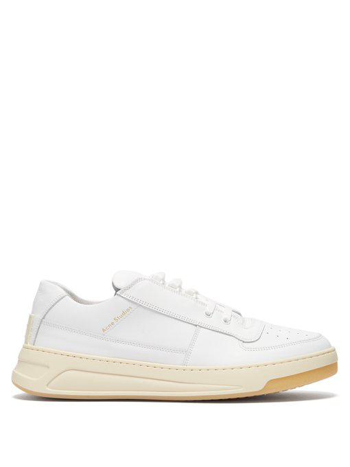 Acne Studios Perey Lace Up Sneakers In White