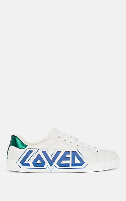 Gucci Ace Graffiti Print Low Top Trainers In White