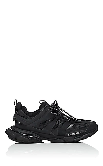 Balenciaga Track Black Leather And Mesh Sneakers