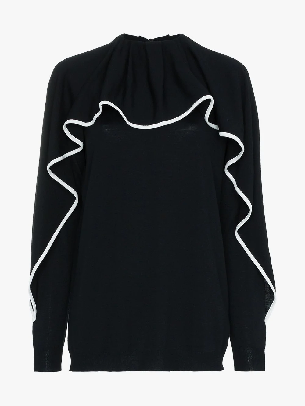 Valentino Ruffled Jumper - Black