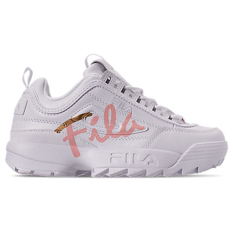 fila women's disruptor ii premium script casual athletic