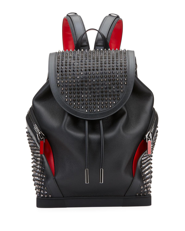 afa956328a0 Christian Louboutin Explorafunk Leather Spike-Embellished Backpack In Black
