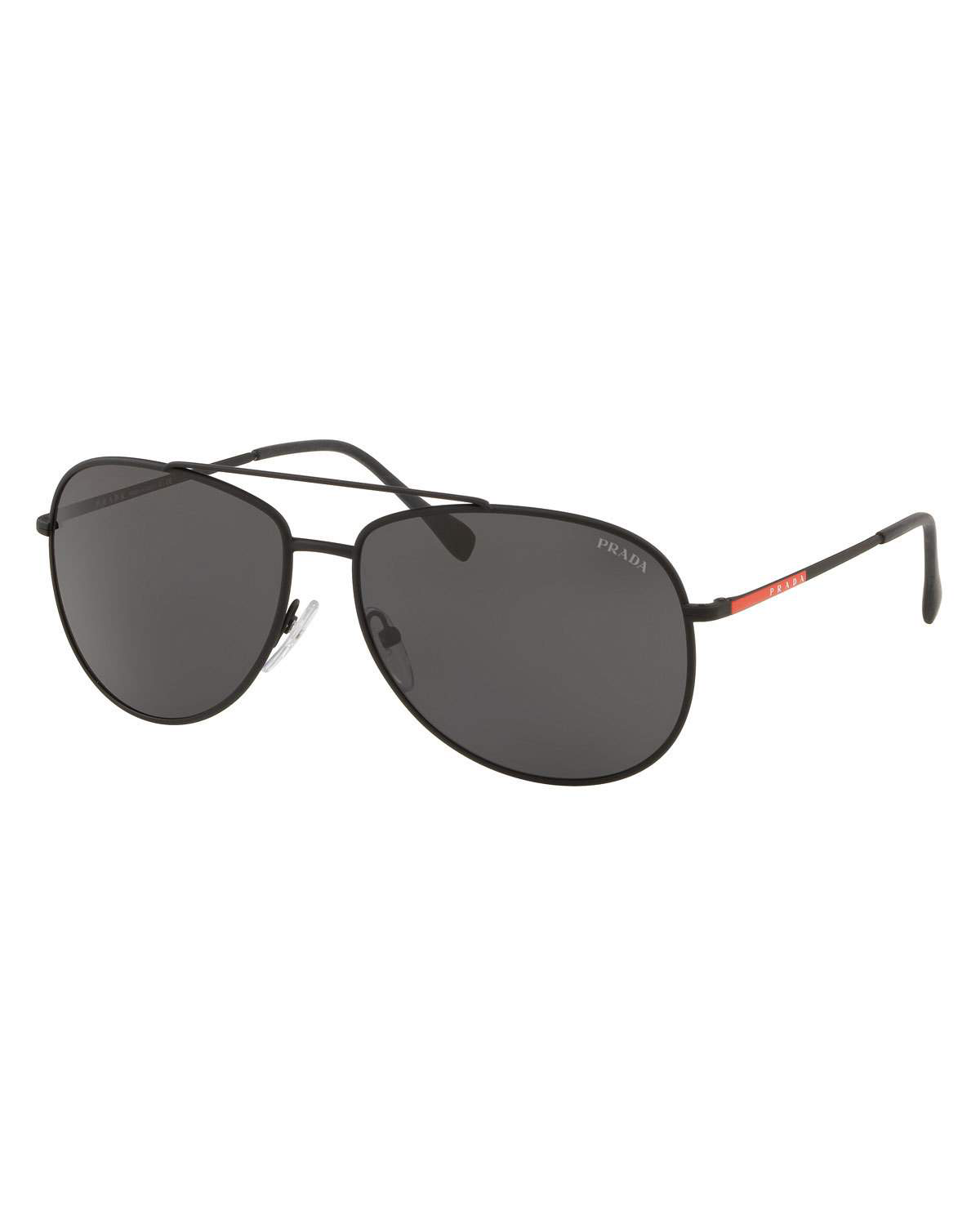 79b316a3fe2a Prada Men s Metal Aviator Sunglasses In Black Gray