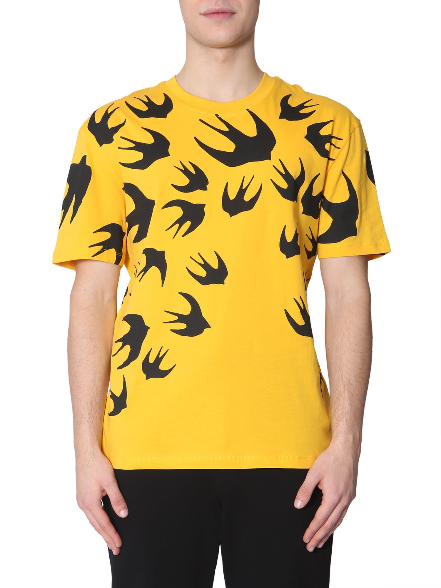 c948a64e Mcq By Alexander Mcqueen Mcq Alexander Mcqueen Swallow Print T-Shirt -  Yellow