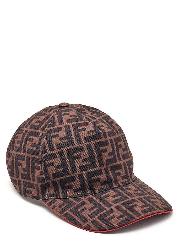 3885df0653b Fendi Ff Logo Canvas Baseball Hat - Brown