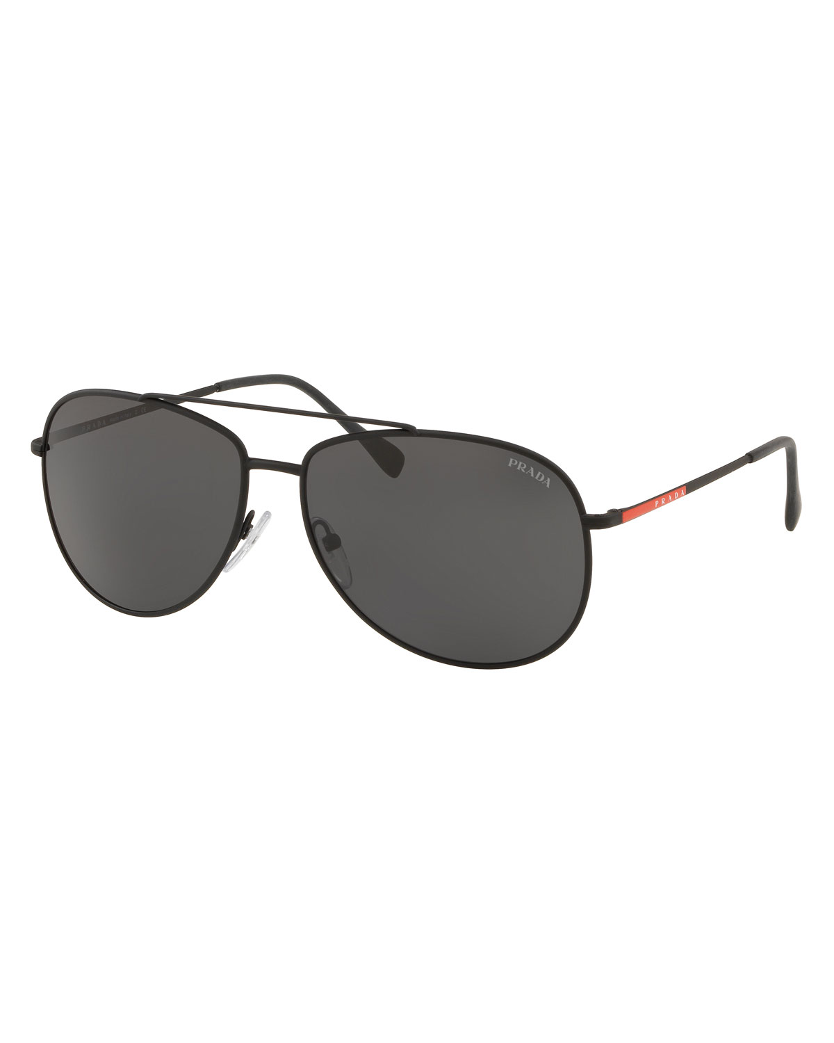b64146bf918 Prada Men s Metal Aviator Sunglasses In Black Gray