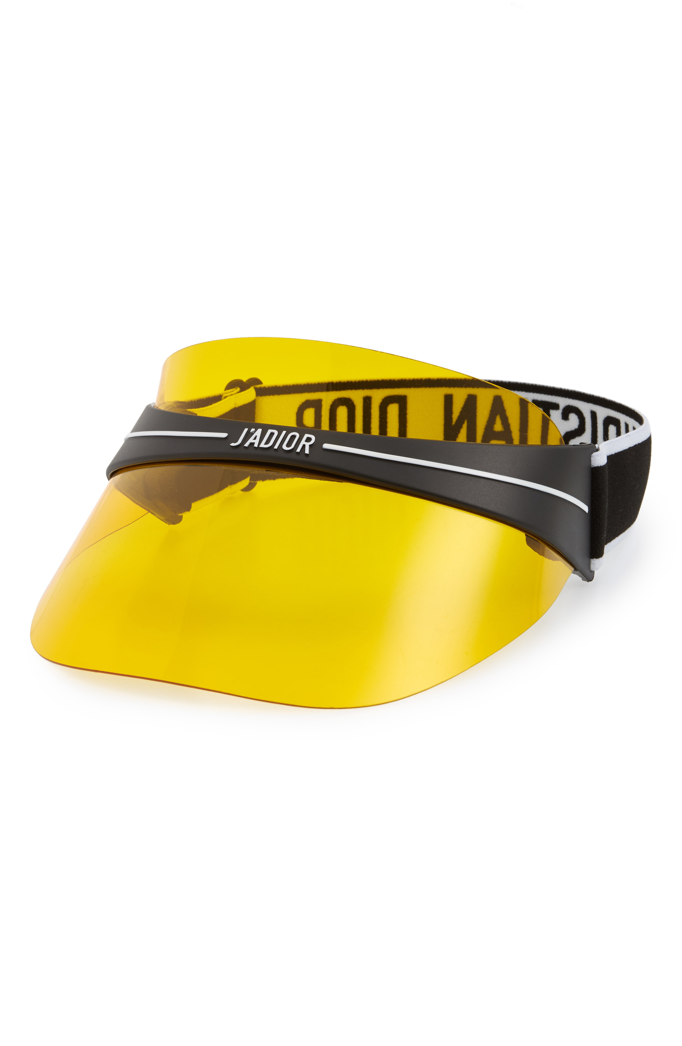 4f94eeba255373 Dior Club1 Transparent Logo Sun Visor In Yellow   ModeSens