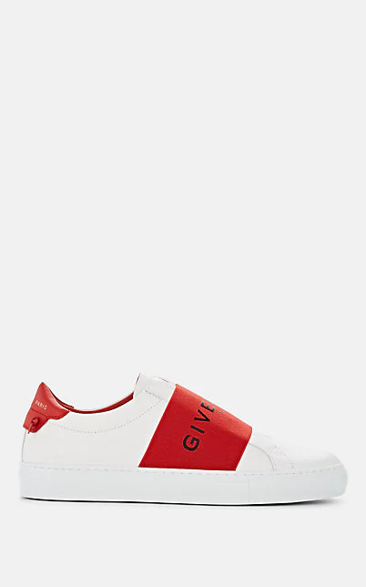Givenchy 白色 And 红色 Urban Street 运动鞋 In White