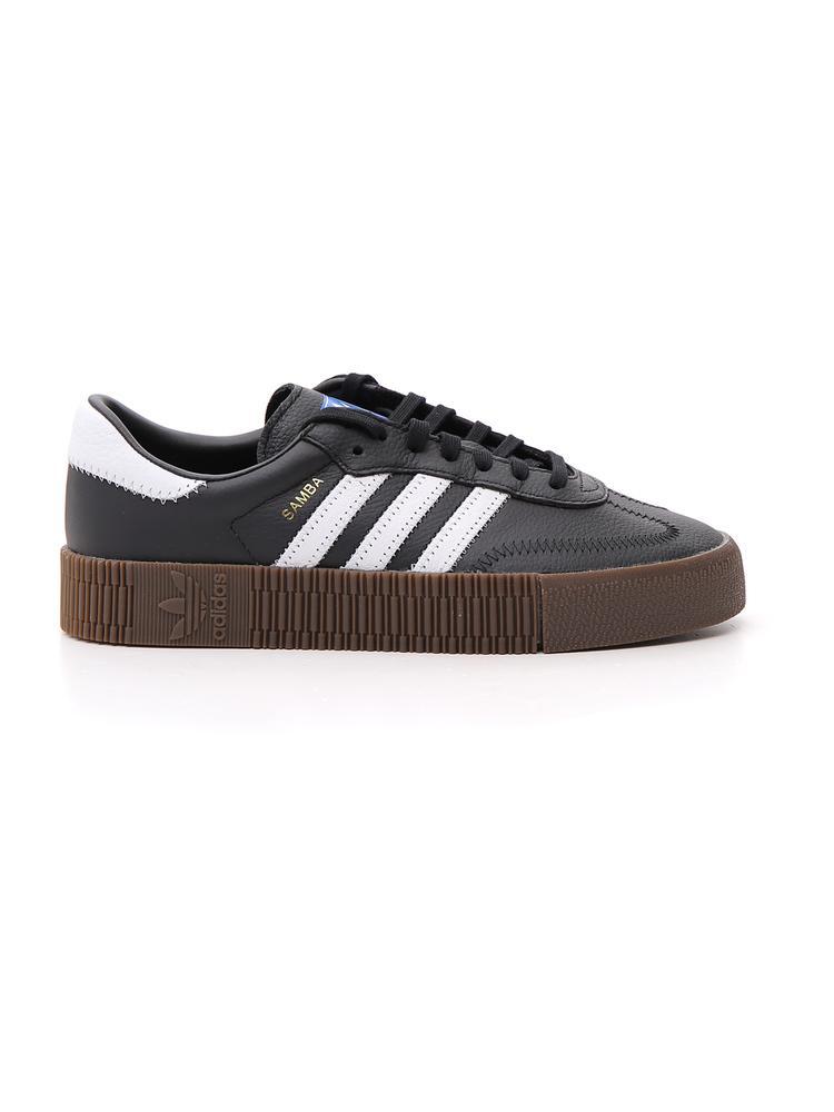 Adidas Originals Samba Rose Sneakers In Black With Dark Gum Sole - Black 87f97d395