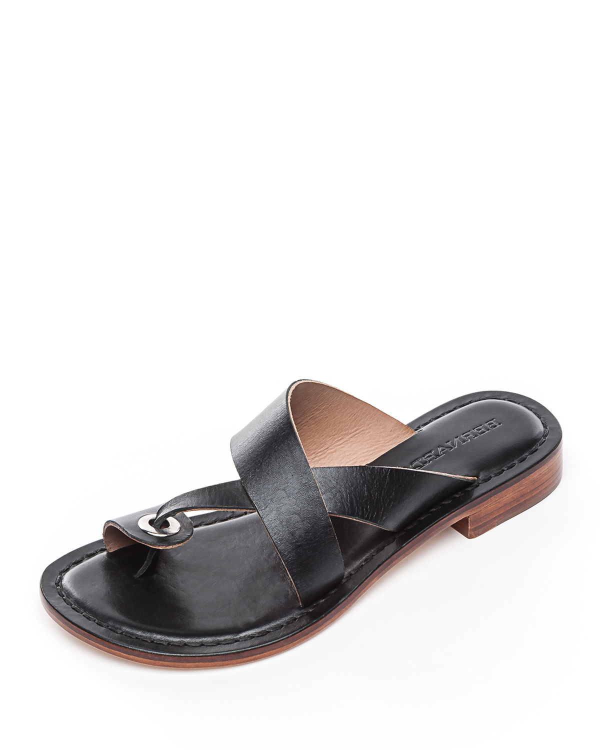 86e137c2b61 Bernardo Tia Flat Slide Sandals In Black Leather