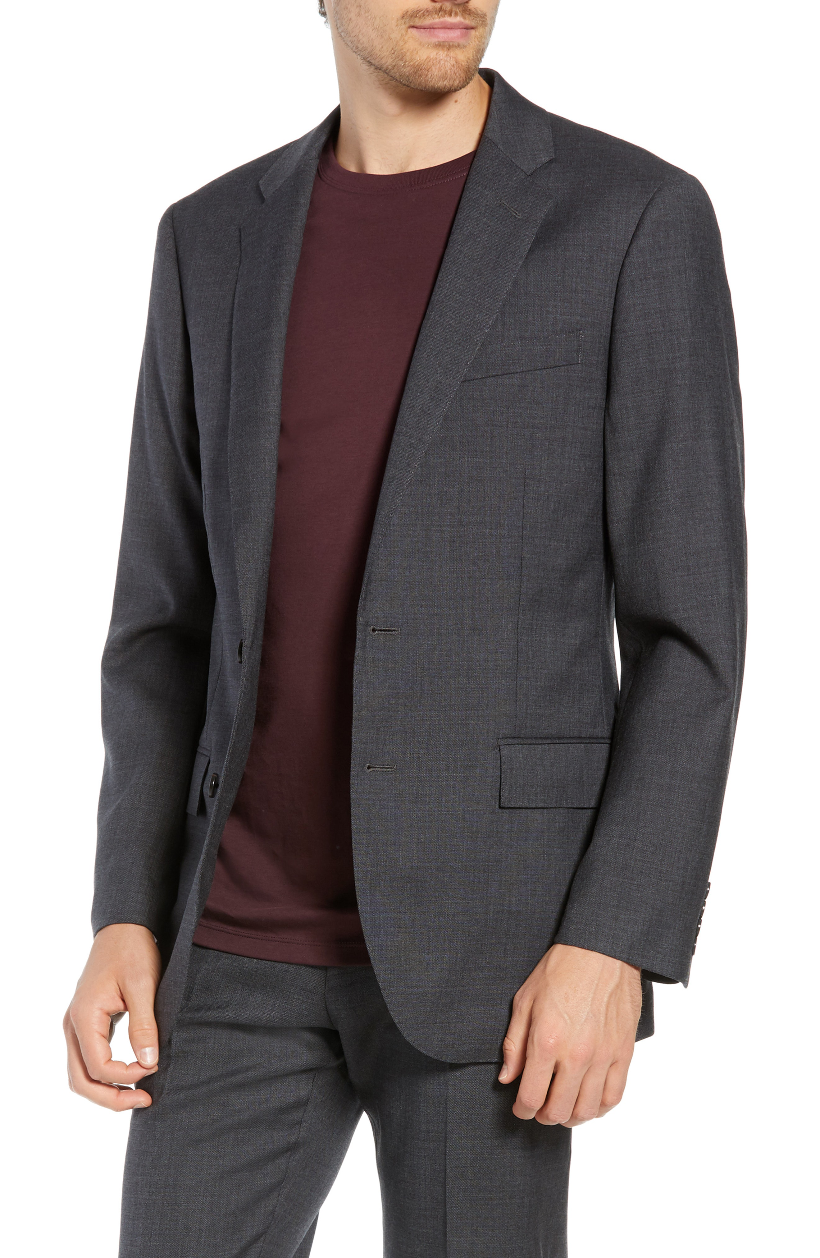 5806298819e0e7 J.Crew Ludlow Slim Fit Four Season Stretch Wool Suit Jacket In Charcoal