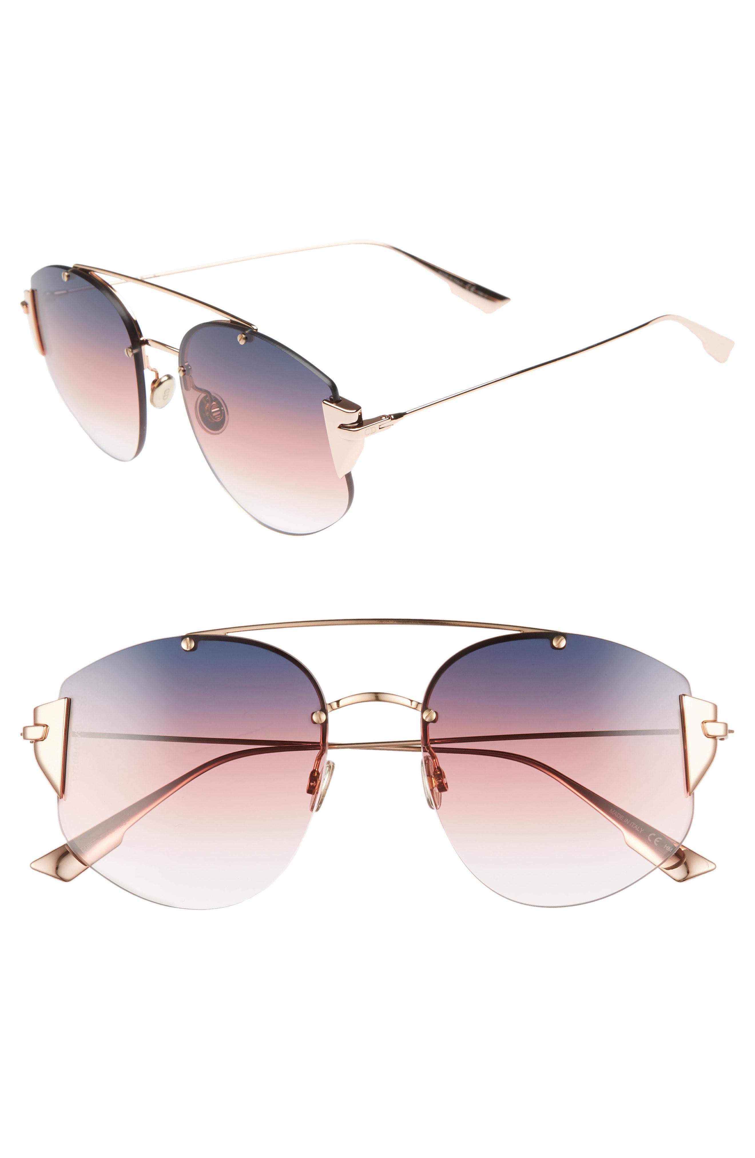 d866b328214f Dior Women s Stronger Mirrored Brow Bar Rimless Square Sunglasses ...