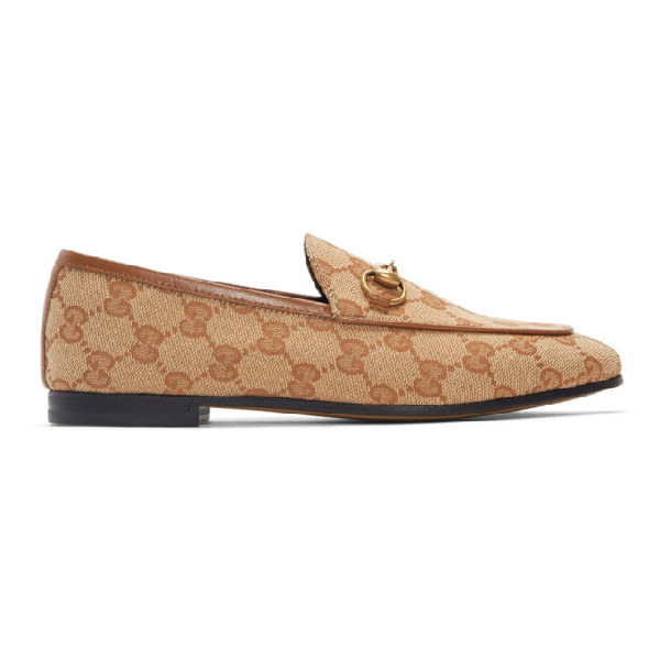 Gucci 10mm Jordaan Gg Supreme Canvas Loafers In 8378 Multi