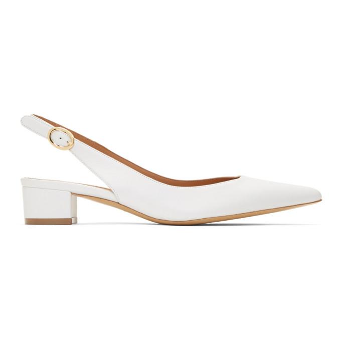 7e8e4c02aff White Slingback Heels