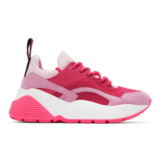 Stella Mccartney Eclypse Faux Leather, Faux Suede And Neoprene Sneakers In 6957 Rose/Puxia/Fu/M/Mg