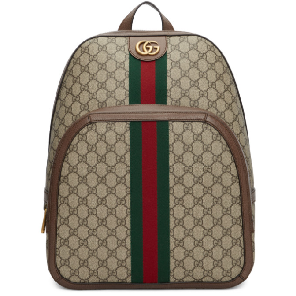 Gucci Men's Gg Supreme Medium Canvas Backpack In 8994 Gg Beige