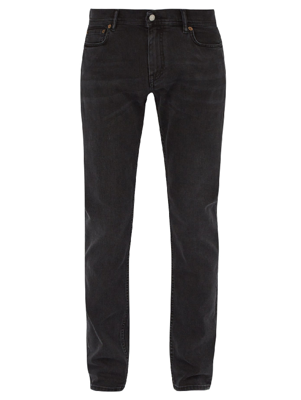 Acne Studios BlÅ Konst North Mid-rise Slim-leg Jeans In Stay Black