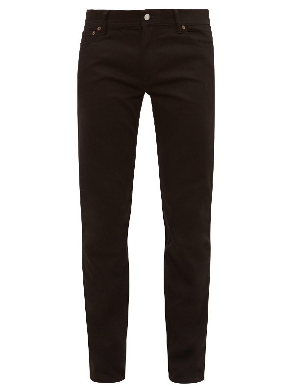 Acne Studios BlÅ Konst North Mid-rise Slim-leg Jeans In Stay Black