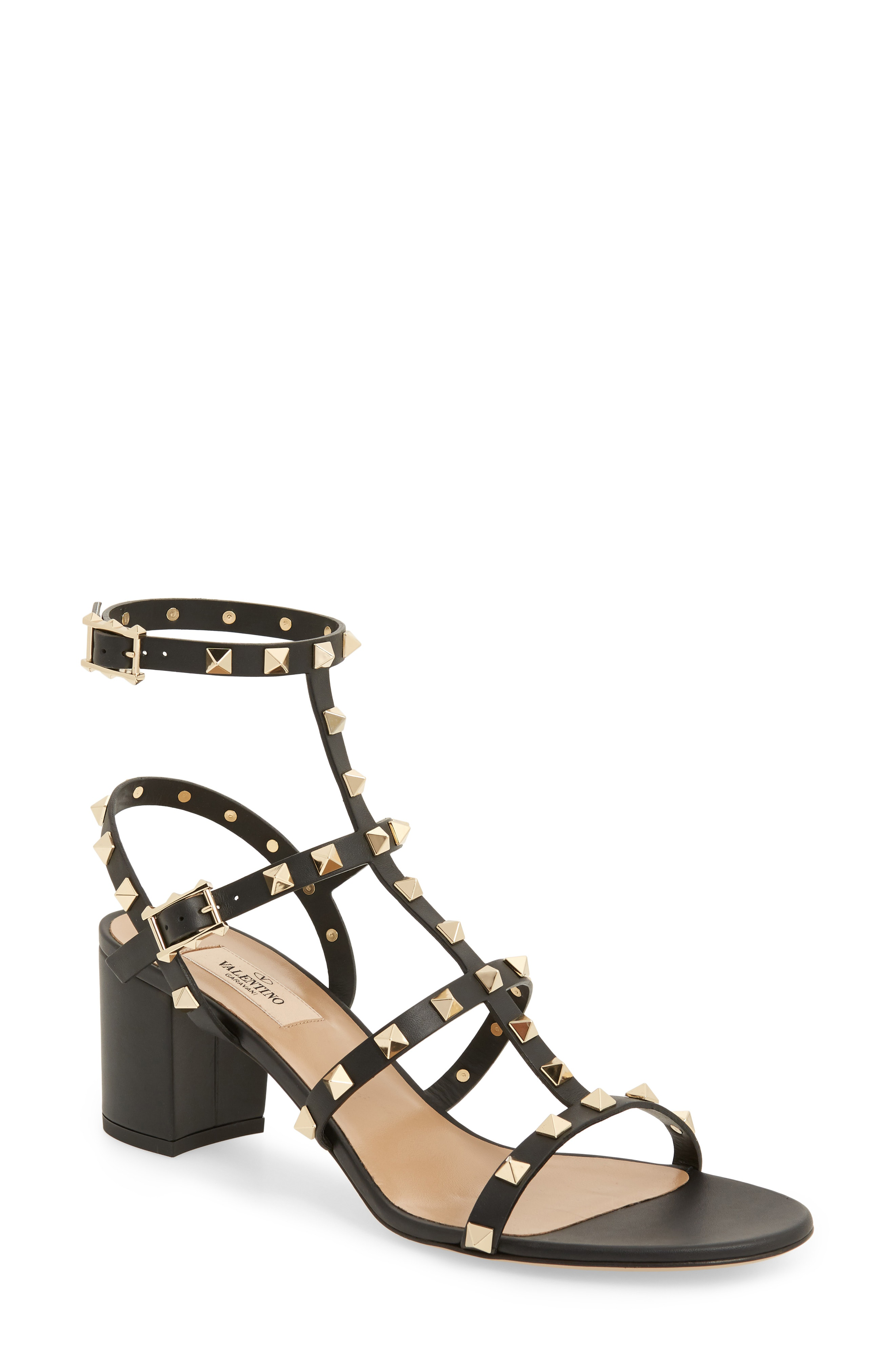 3430fd94651e Valentino Rockstud Leather 60Mm City Sandals
