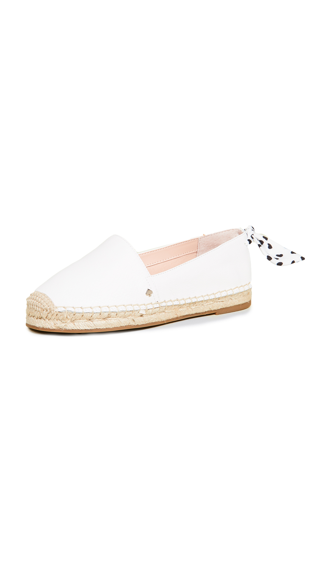 Kate Spade Grayson Suede Espadrilles In White
