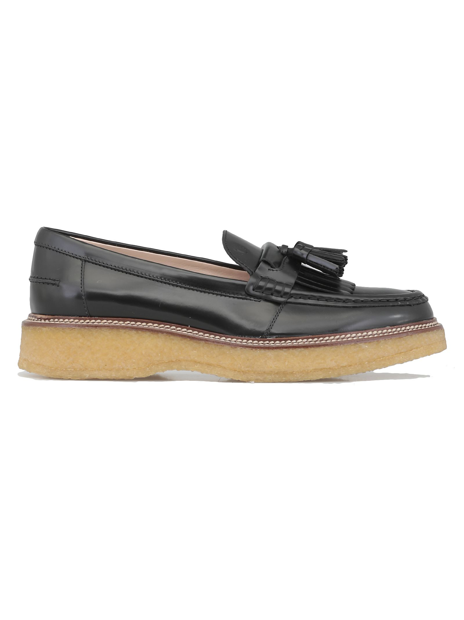 53a72d705979 Tod s Leather Platform Loafers In Black