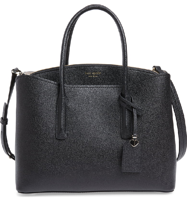 Kate Spade Margaux Black Leather Top Handle Bag