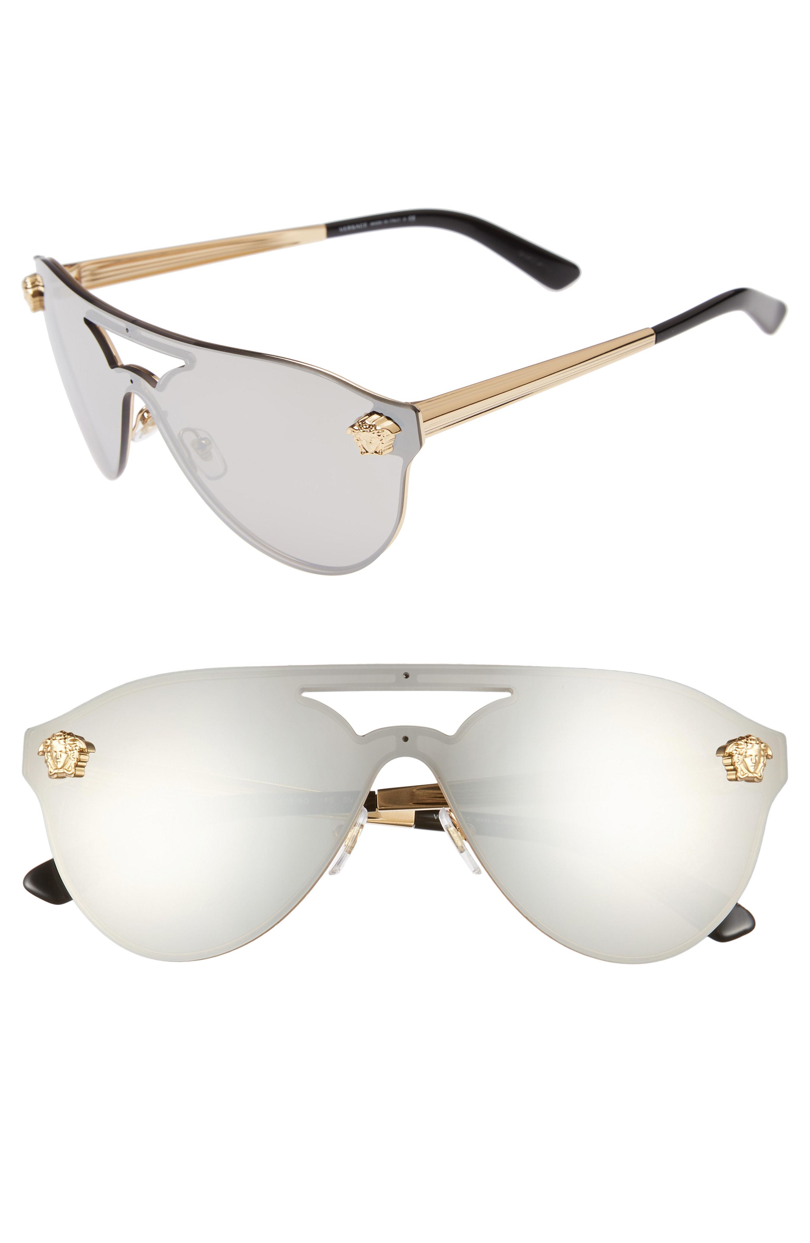 a03562d40 Versace 60Mm Shield Mirrored Sunglasses - Gold/ Silver Mirror In Gold/Silver  Mirror