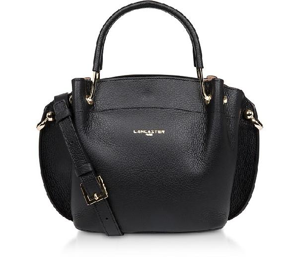 Lancaster Foulonnè Double Satchel Bag In Black