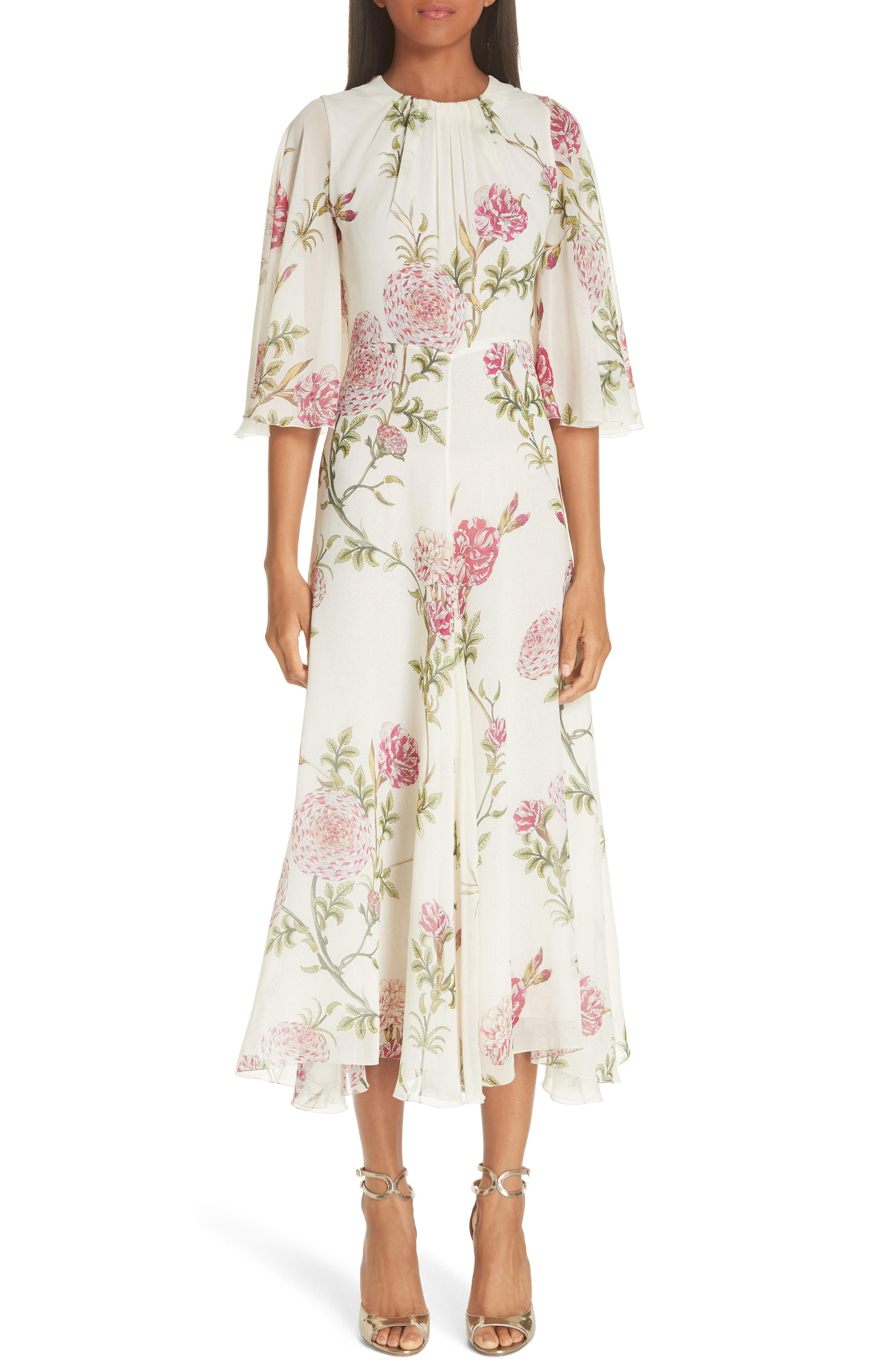 a4dc5df08cb56 Giambattista Valli Floral-Print Silk-Chiffon Midi Dress   ModeSens