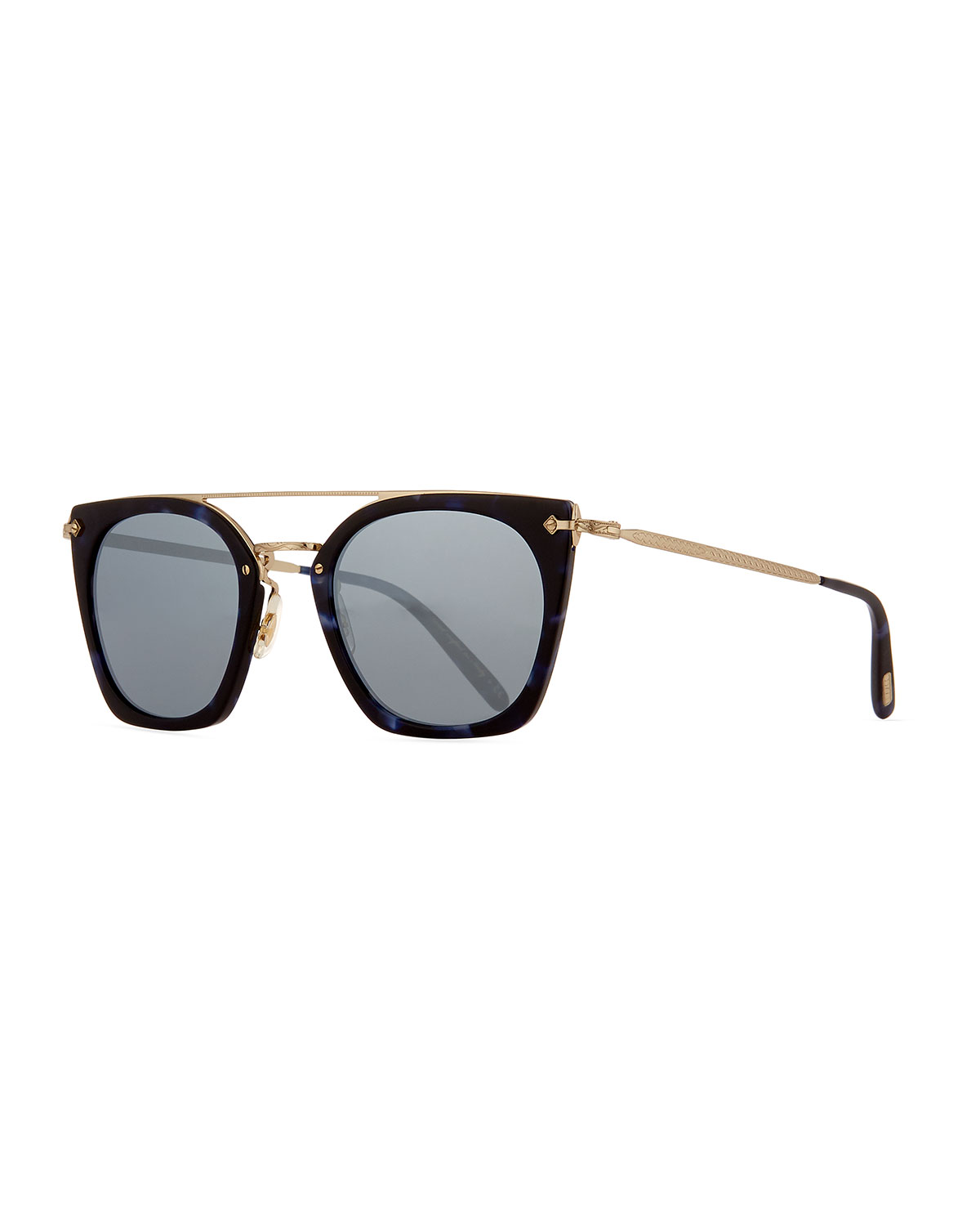 29d62a9e04d3d Oliver Peoples Women s Dacette Brow Bar Mirrored Square Sunglasses ...