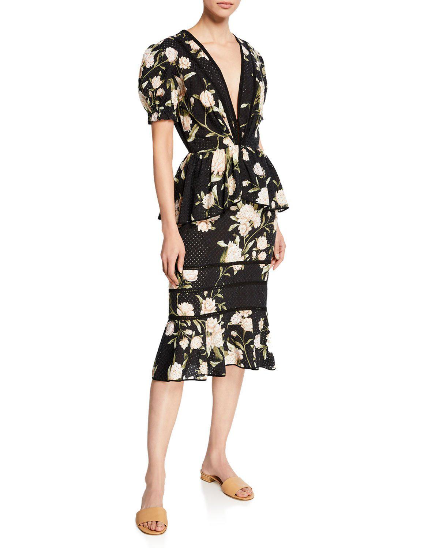 0f35df4f6c1 Johanna Ortiz Oriental State Floral Dress In Black
